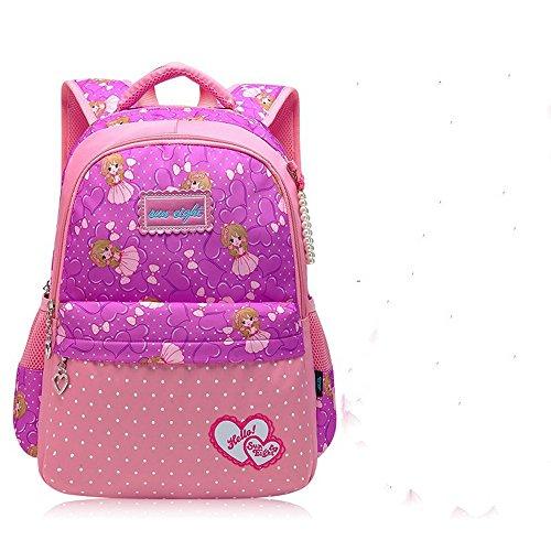 MinegRong Schulranzen Schüler Mädchen Süße Prinzessin Junior High School Rucksack Schulter Protektoren Neue Kleine rosa lila 2HkY6WDECd