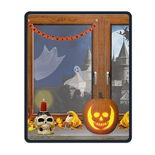 Halloween Window Ghost Mouse Pad Printed Non-Slip Rubber