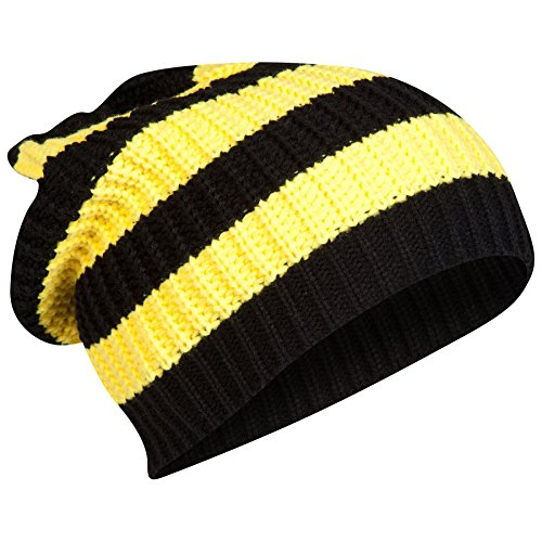 Borussia Dortmund Football Club BVB Striped Beanie Hat Headwear Yellow Black   Amazon.co.uk  Sports   Outdoors 38990e295d9