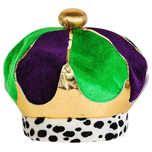 [Mardi Gras Plush Crown Costume Accessory Party Hat] (Hat Mardi Gras Costumes Accessories)