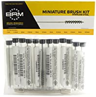 Brush Research 81AMMKIT Stainless Steel Metric Brush Kit (Includes 1 mm, 1.5 mm, 2 mm, 2,5 mm, 3 mm, 3.5 mm, 4 mm, 4,5 mm, 5 mm, 5.5 mm, 6 mm and 6.5 mm and a Pin Vise)