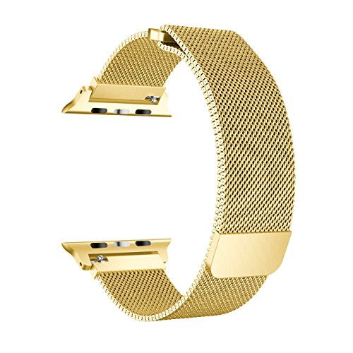 Enow Band for Apple Watch Fully Magnetic Closure Clasp Mesh Loop Milanese Stainless Steel Bracelet Strap for iWatch Series 3 Series 2 Series 1 Sport & Edition