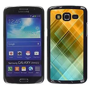 Be Good Phone Accessory // Dura Cáscara cubierta Protectora Caso Carcasa Funda de Protección para Samsung Galaxy Grand 2 SM-G7102 SM-G7105 // Blue Yellow Pastel Pattern