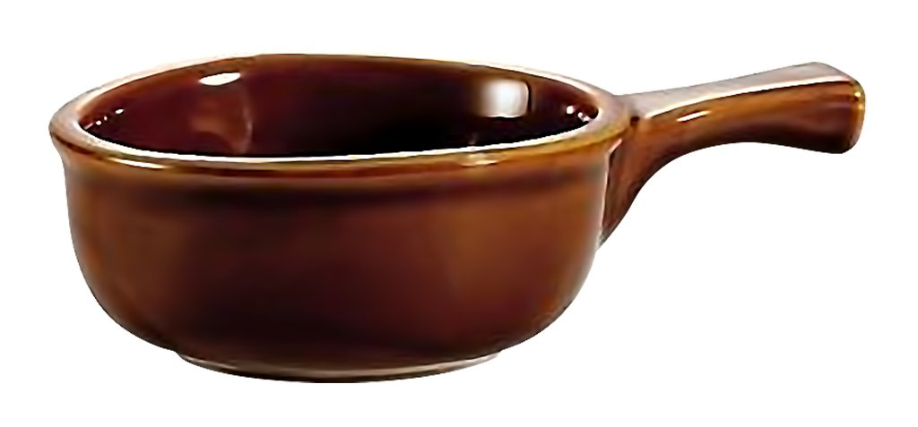 Brown Onion Soup Crock With Handle 15 oz. set of 1 - by TableTop King