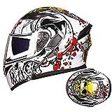 Full Face Motorcycle Helmet, DOT/ECE Certification Men and Women Motorcycle Summer Full Helmet