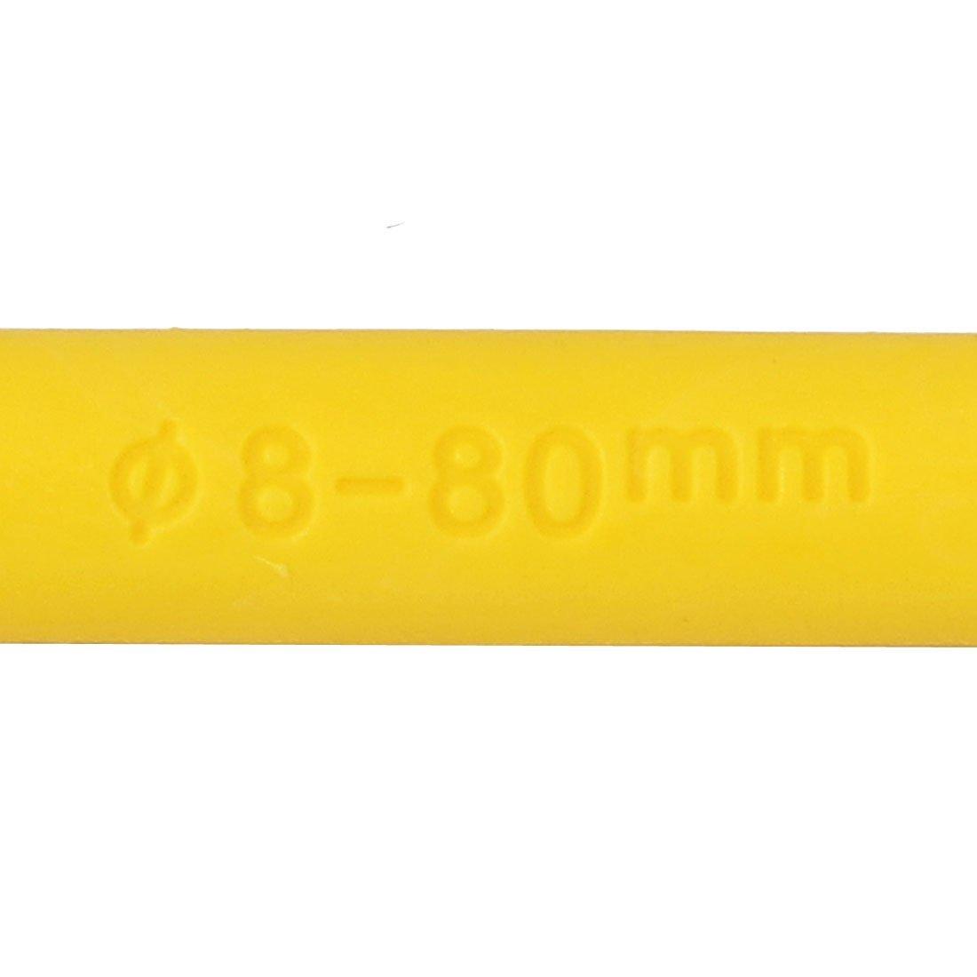 eDealMax 8mmx80mm Expansion Plastique paroi du tuyau d'ancrage à vis Jaune 50pcs