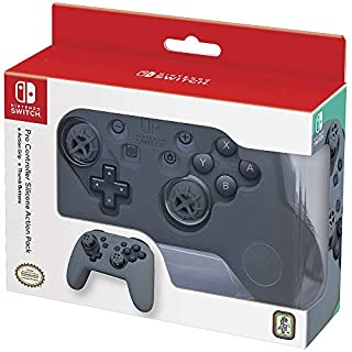 Officially Licensed Nintendo Switch Action and Thumb Grip for Pro Controller - Grey Textured Silicone