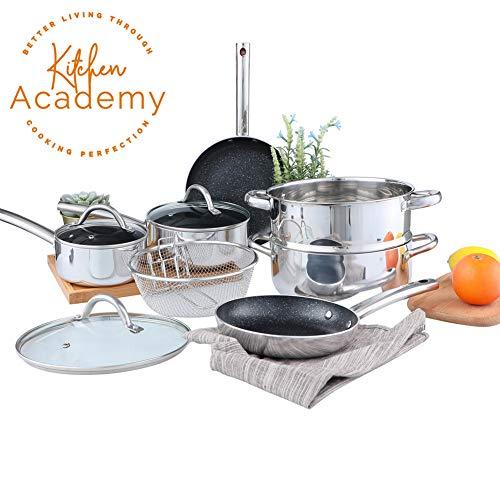 Kitchen Academy Copper Cookware Sets- Copper Kitchen Pots and Pans Set