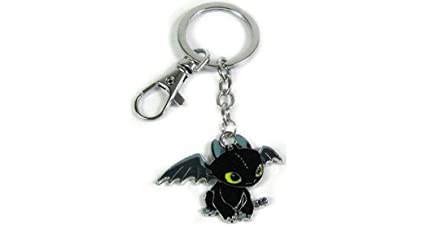 How To Train Your Dragon Toothless Metal Keychain With Clip