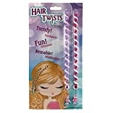 Hair Twists By Sparkle Tattoo - 2 Piece Polymer Twist in Hair Braids