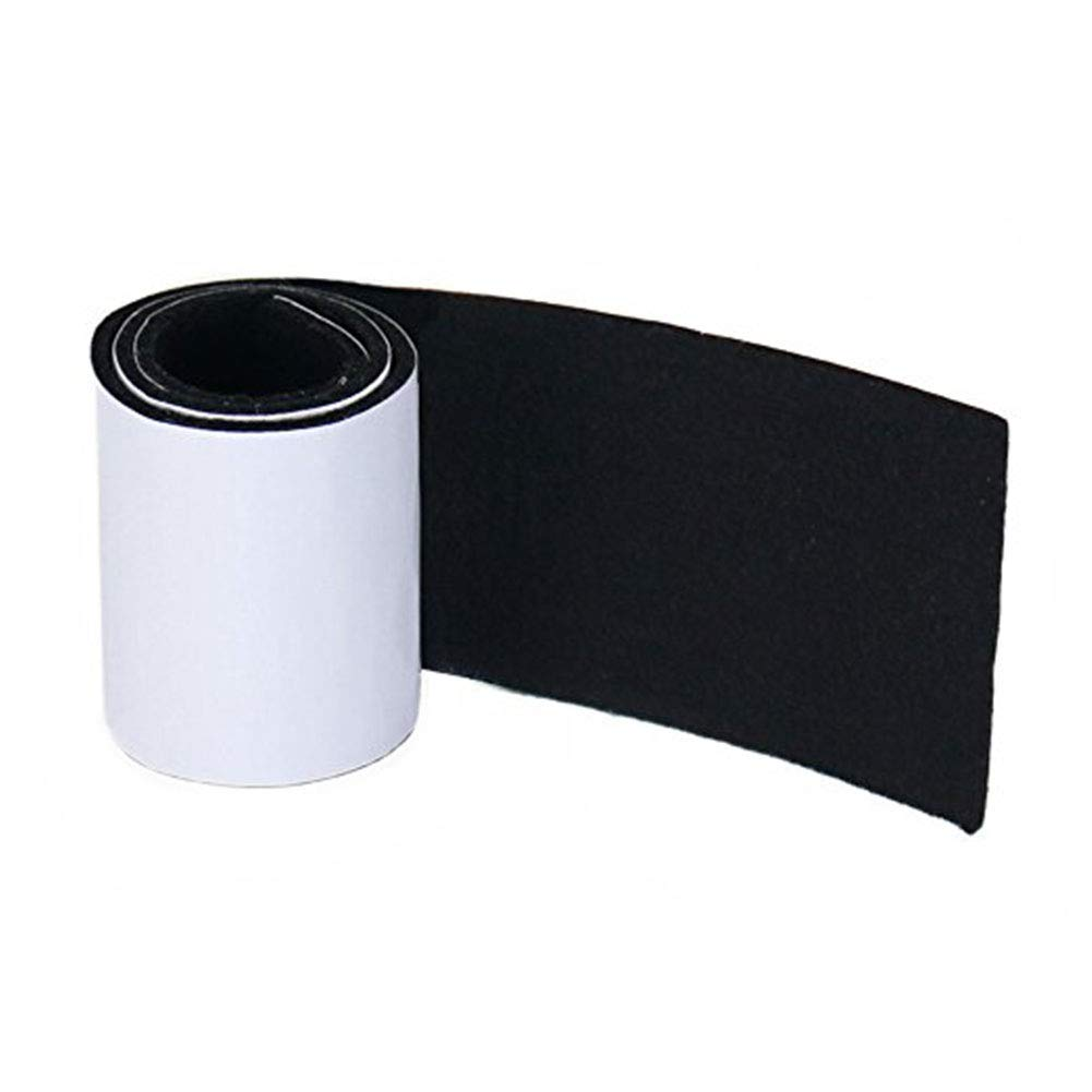 Joyoldelf Heavy Duty Felt Strip Roll - DIY Self Adhesive Furniture Pads & Wood Floor Protector, Suitable for Table, Sofa, Plant Pots and Dishes, 39.37'' x 3.93'' (Black)