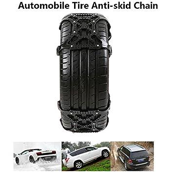 Sedeta® Cadenas Cadena de Seguridad Teleférico del neumático de nieve ruedas antideslizantes Cinturón NegroPor vehículos de pasajeros, camionetas y ...