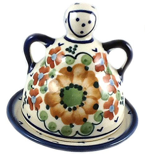Polish Pottery Mini Cheese (Polish Pottery Lemon Lady or Mini Cheese Lady in Pattern LB or Avery)