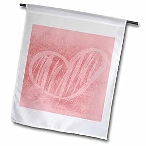 Patricia Sanders Creations - Pink Heart Sketch- Art- Love - 12 x 18 inch Garden Flag (fl_43968_1)