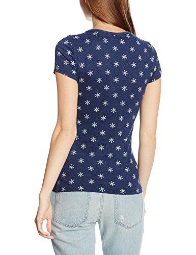 SUPERDRY Classics Aop Tee, Camiseta Para Mujer Azul (Princeton Blue MarlBCY)