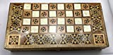 Mosaic Mother of pearl Inlaid Backgammon 16' board Set Wooden Backgammon Game