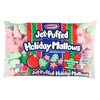 Kraft Jet-puffed Holiday Mallows Vanilla Marshmallows Pink Green