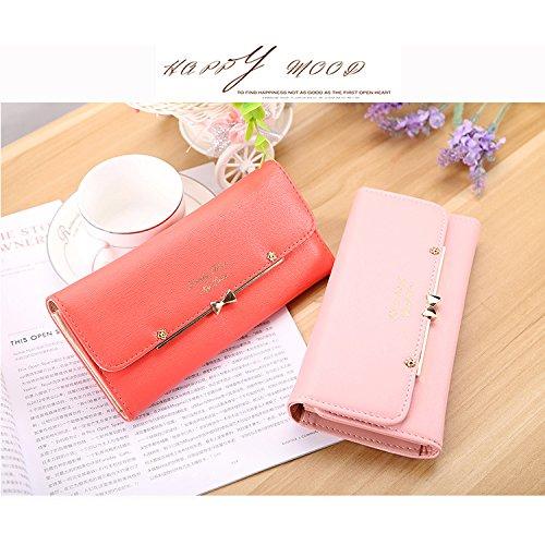 qianfuyin 2017 new percent off ladies purse large capacity multi card fashion female long wallet mini bagels wallet,New hand bag