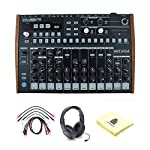 Arturia DrumBrute Analog Drum Machine with Patch Cables, Open-Ear Headphones and Zorro Sounds Drum Machine Polishing Cloth from Arturia