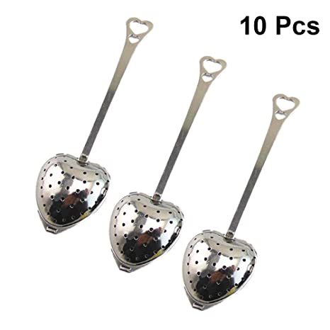 SoundsBeauty Heart Design Spoon Tea Infuser Filter Wedding Souvenir Bridal Shower Favor Gift