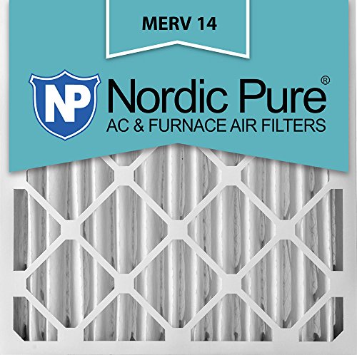 Nordic Pure 16x24x4M14-2 Pleated AC Furnace Air Filter, Box of 2