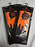(2) Zero Friction Men's Golf Gloves, One Size, Right Hand, Orange