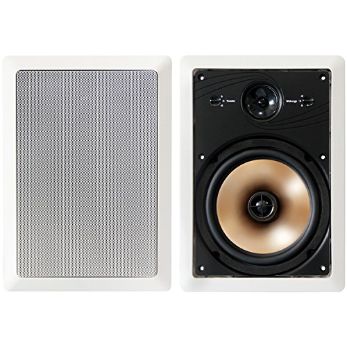"BIC America Acoustech Series 8"" 3-Way In-Wall Speakers (Pair) White HT8W"