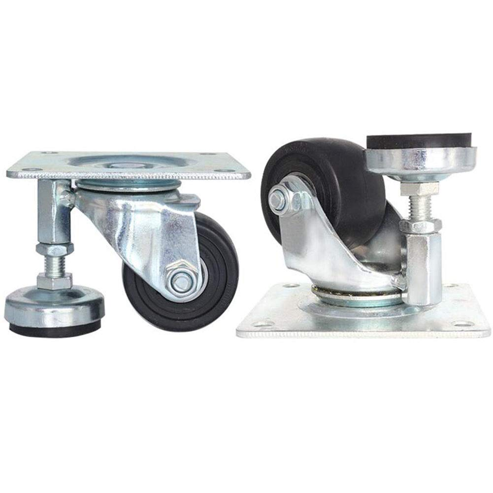 MUMA 3 Inches Level Adjustment Low Center of Gravity Casters 2.5 Inch Support Wheel 2-inch Equipment Mechanical Universal Wheel (Color : Universal Wheel, Size : 3 inches)