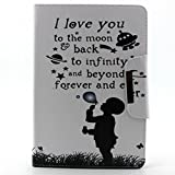 For iPad Mini 4 Case, HP95(TM) Luxury Slim [Letter Words] Magnetic Leather Case Cover Stand For iPad Mini4 (D)