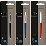 Parker Jotter 3 Colours - 1 Black + 1 Blue + 1 Red Ballpoint Pen