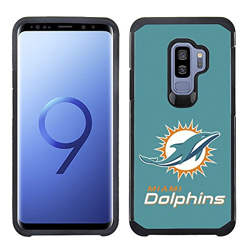 - Prime Brands Group Textured Team Color Cell Phone Case for Samsung Galaxy S9 Plus - NFL Licensed Miami Dolphins