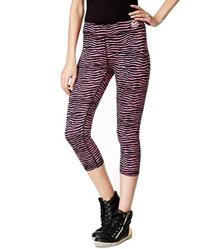 Michael Michael Kors Men's Zebra Print Cropped Leggings (Large, Plum Blossom) - Michael Kors Zebra
