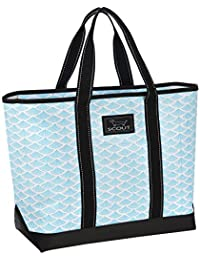 Beach Bum Large Tote Bag, For the Beach or Pool, Slim Profile, Folds Flat, Sand and Water Resistant, Zips Closed