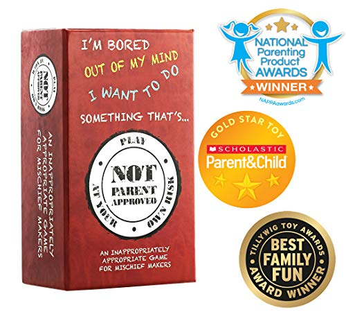 Not Parent Approved: A Hilarious Card Game for Kids, Tweens, Families and Mischief Makers ()