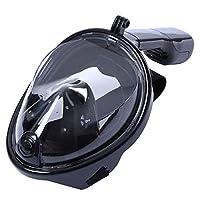 Mascara De Mergulho Full Face Com Suporte Para Camera Anti Embaçamento Mergulhador GG Preta (BSL-XST-2)