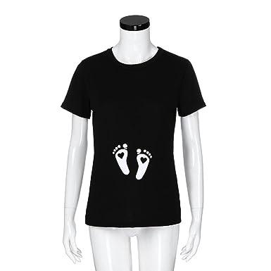 Amazon.com: challyhope camisetas de maternidad, mujer Mama ...