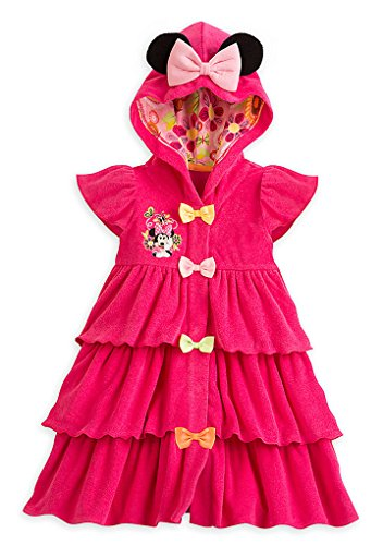 Disney Store Little Girls Minnie Mouse Swim Cover-Up, Size 4