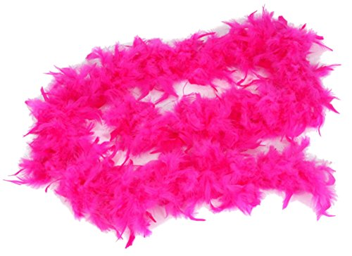 Fuchsia Pink Feather Boa (6ft) Girls Princess Tea Party Dress up Costume -