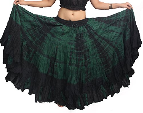 Wevez Plus Size 40 Inches Long Tribal Fusion 25 Yard Skirt (GTD)