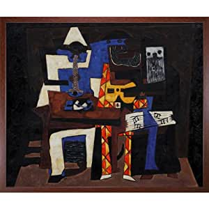 Pablo Picasso Three Musicians Painting Framed Oil Painting, 20 x 24