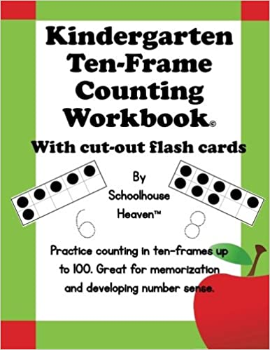 Buy Kindergarten Ten-frame Counting Workbook: With Cut-out Flash ...