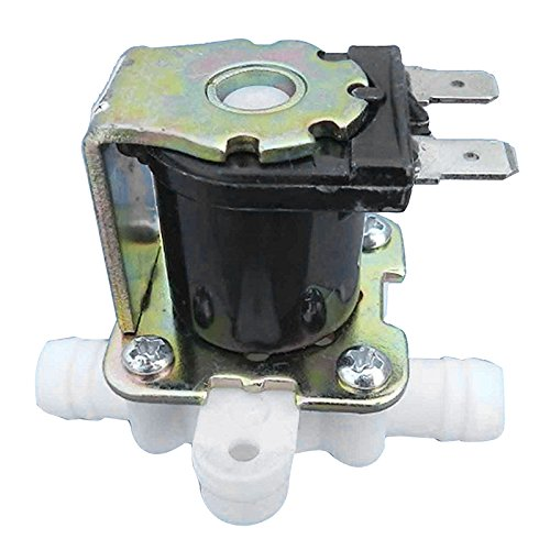 SODIAL(R) 3/8inch 12VDC Hose Barb Electric Solenoid Valve Plastic Body 12-volt DC for Automatic Faucets Drinking Fountains-Pressure,white & black