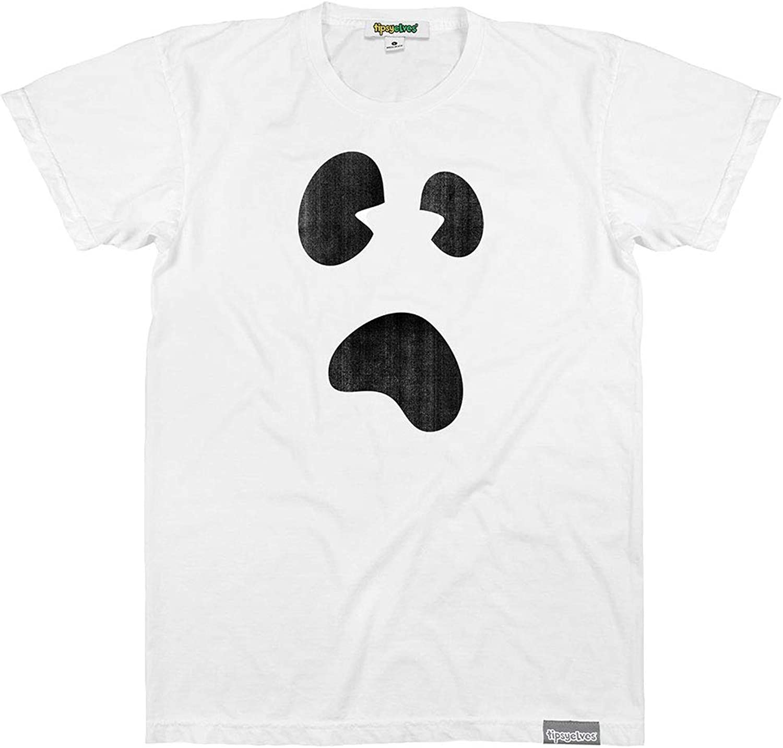 Camiseta de Fantasma Blanca para Disfraz de Fantasma de Halloween para Hombre - Blanco - Small: Amazon.es: Ropa y accesorios
