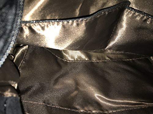 Chain Suede Large Style Women's Stella Faux Black Bag Metallic XPIYX6q