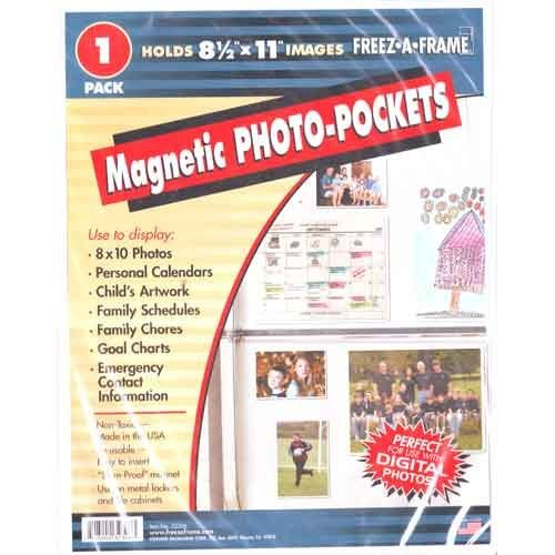 Picture Frame Refrigerator Magnet - Freez-A-Frame Magnetic 8.5-Inch x 11-Inch Photo Frame