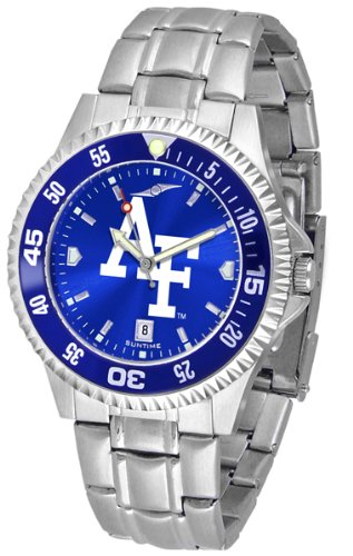 Falcons Mens Executive Watch (Air Force Falcons Competitor Steel AnoChrome Color Bezel Men's Watch)