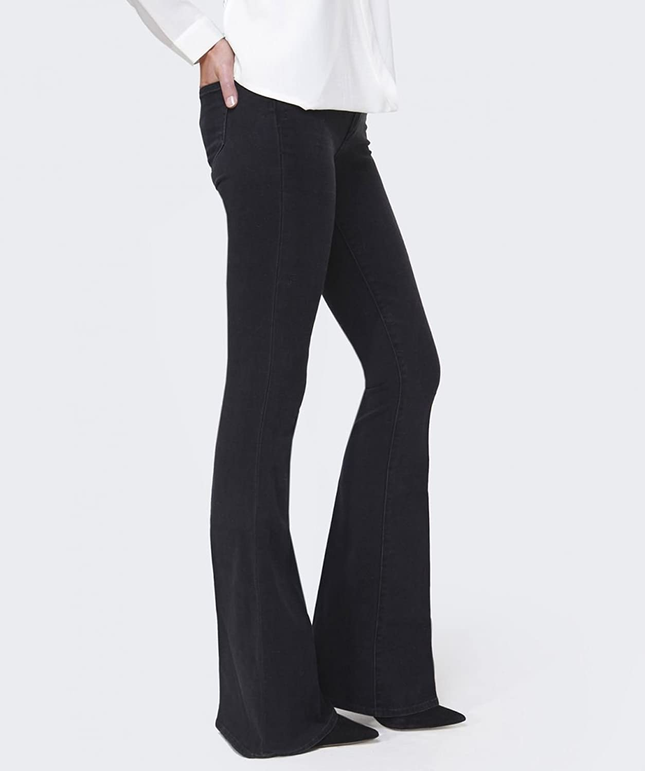 Paige Denim Joannie High Rise Bell Canyon Jeans Black