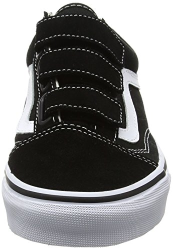 Vans Black Trainers Adults' suede Skool Old Unisex True White Canvas V black fXfqTrY
