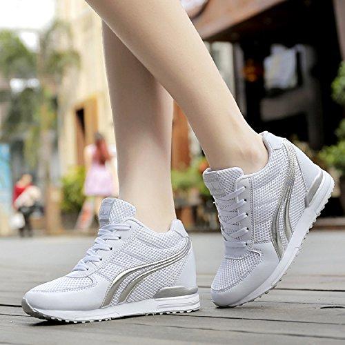 de Deporte Zapatillas LILY999 Mujer de Zapatillas Altas Zapatillas Tac Verano Cu para Primavera a q40xAw6p0