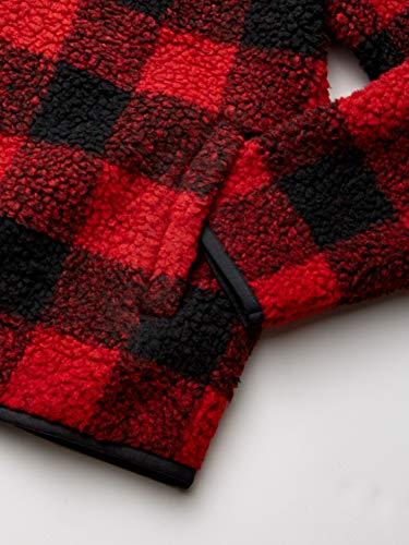 Amazon Essentials Boys' Polar Fleece Lined Sherpa Quarter-Zip Jacket